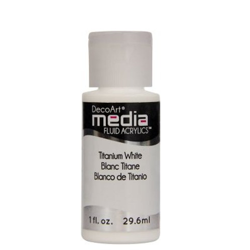 DecoArt Media Fluid Acrylics - Titanium White