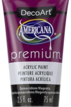 DecoArt Premium Acrylic Paint - Quinacridone Magenta