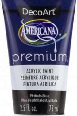 DecoArt Premium Acrylic Paint - Phthalo Blue