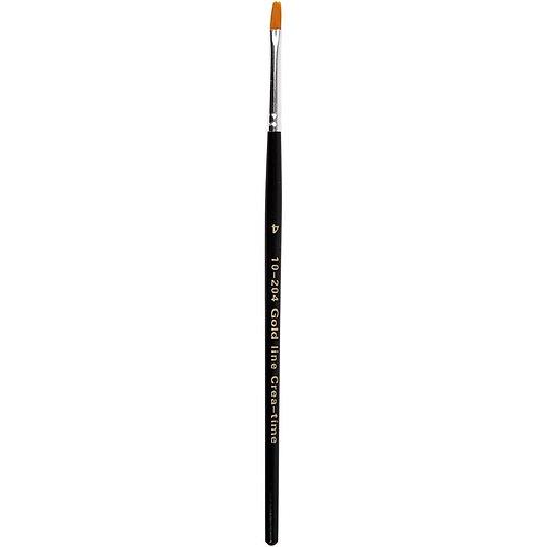 Gold Line Flat Brush Size 4