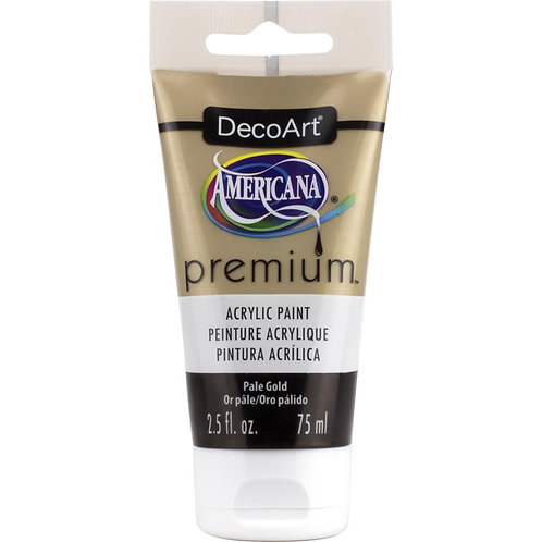DecoArt Premium Acrylic Paint - Pale Gold Metallic
