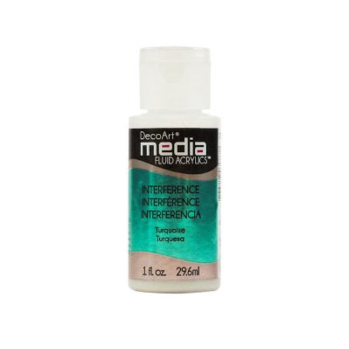 DecoArt Media Fluid Acrylics - Interference Turquoise