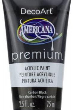 DecoArt Premium Acrylic Paint - Carbon Black