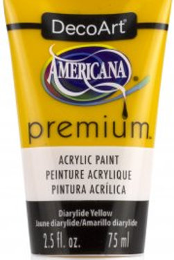 DecoArt Premium Acrylic Paint - Diarylide Yellow