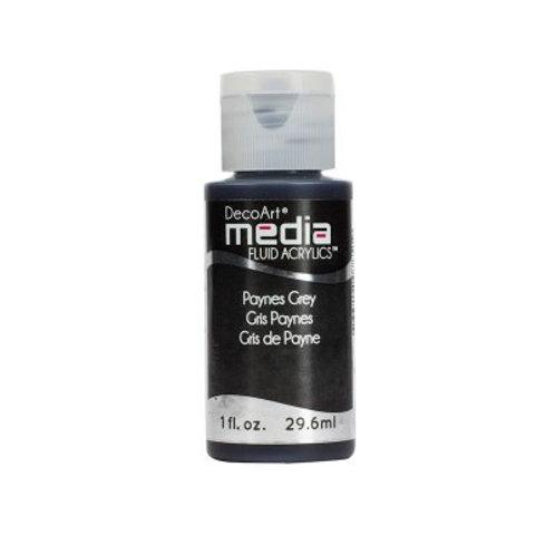 DecoArt Media Fluid Acrylics - Paynes Grey