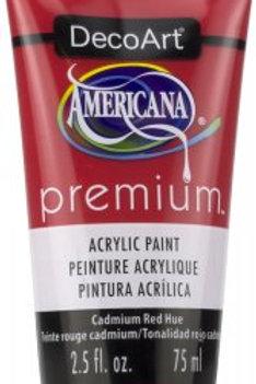DecoArt Premium Acrylic Paint - Cadmium Red