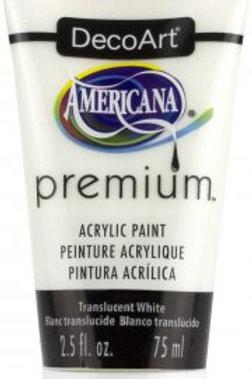 DecoArt Premium Acrylic Paint - Translucent White