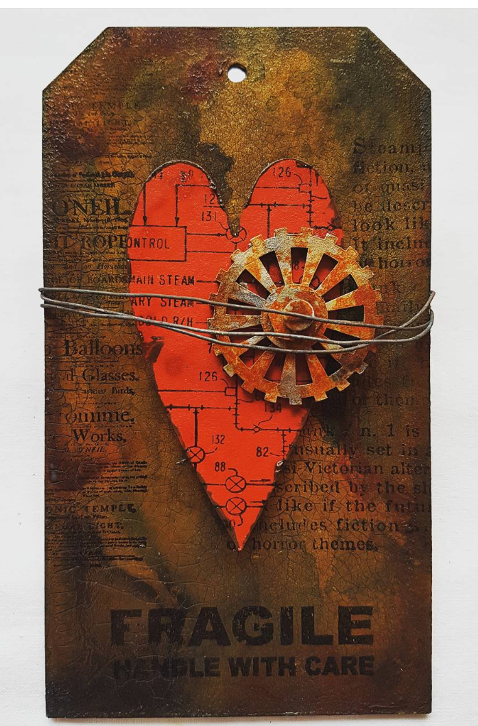 Grungy Heart Tag
