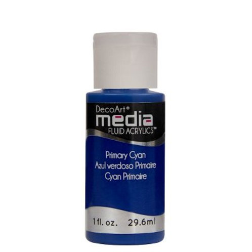 DecoArt Media Fluid Acrylics - Primary Cyan