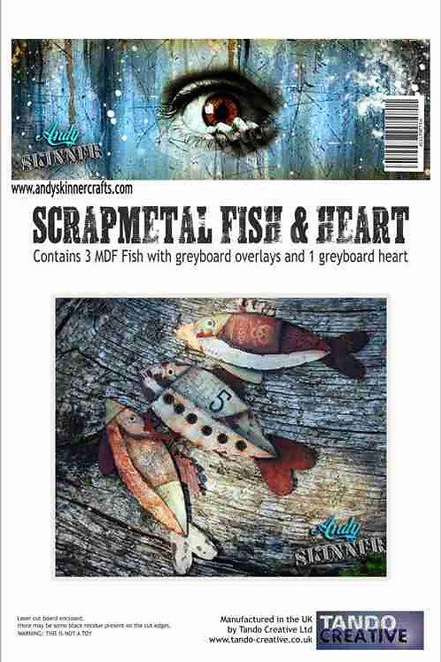 Tando Creative Scrap Metal Fish & Heart Kit by Andy Skinner