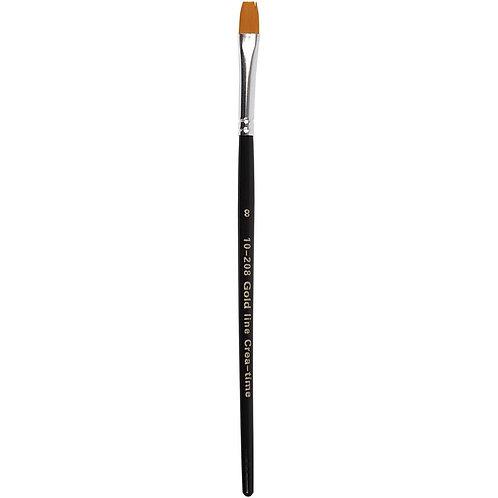 Gold Line Flat Brush Size 8