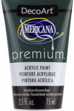 DecoArt Premium Acrylic Paint - Viridian Green Hue