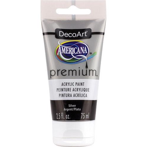 DecoArt Premium Acrylic Paint - Silver Metallic