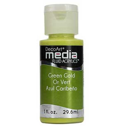 DecoArt Media Fluid Acrylics - Green Gold