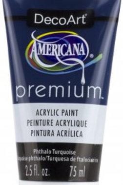 DecoArt Premium Acrylic Paint - Phthalo Turquoise