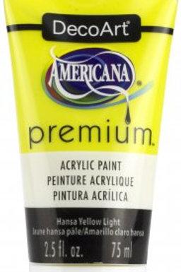 DecoArt Premium Acrylic Paint - Hansa Yellow Light