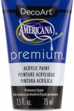DecoArt Premium Acrylic Paint - Primary Cyan