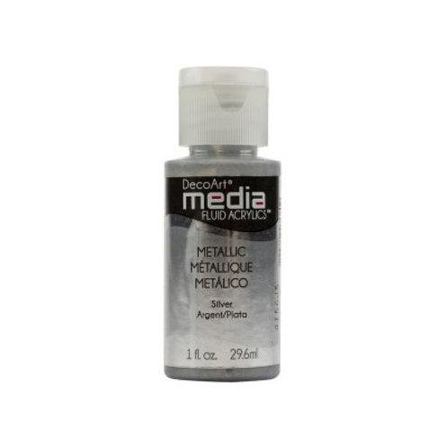 DecoArt Media Fluid Acrylics - Metallic Silver
