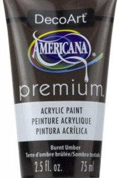 DecoArt Premium Acrylic Paint - Burnt Umber