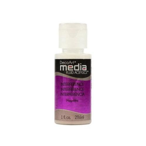 DecoArt Media Fluid Acrylics - Interference Magenta