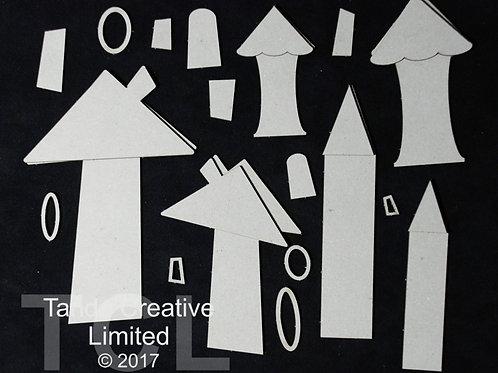 Tando Creative Whimsical Houses Shape 1