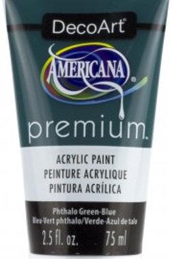 DecoArt Premium Acrylic Paint - Phthalo Green-Blue