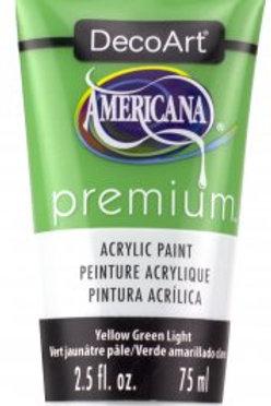 DecoArt Premium Acrylic Paint - Yellow Green Light