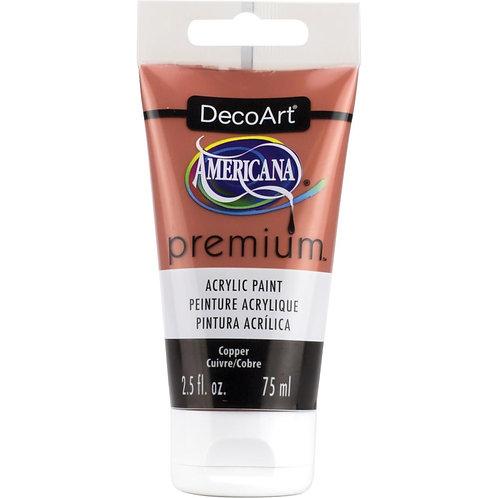 DecoArt Premium Acrylic Paint - Copper Metallic