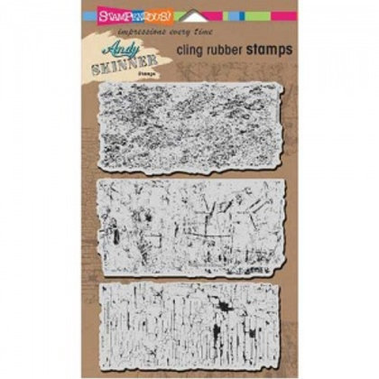 """Stampendous Andy Skinner Cling Stamps 5x7"""" Sheet - Industrial"""