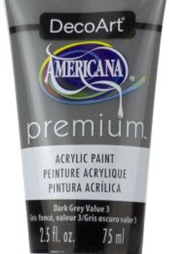 DecoArt Premium Acrylic Paint - Dark Grey Value 3