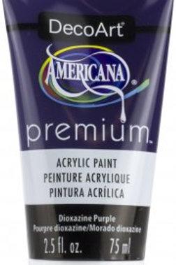 DecoArt Premium Acrylic Paint - Dioxazine Purple