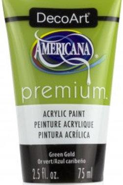 DecoArt Premium Acrylic Paint - Green Gold