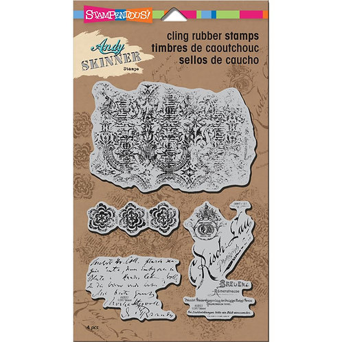 """Stampendous Andy Skinner Cling Stamp 5x7"""" - Textures"""