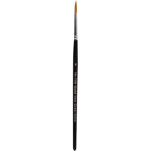 Gold Line Round Brush Size 8
