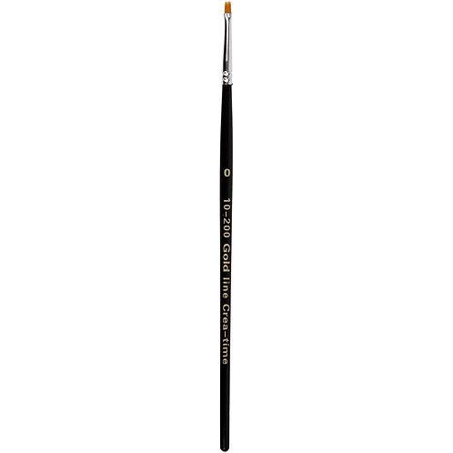Gold Line Flat Brush Size 0