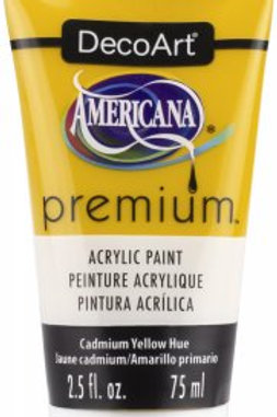 DecoArt Premium Acrylic Paint - Cadmium Yellow Hue
