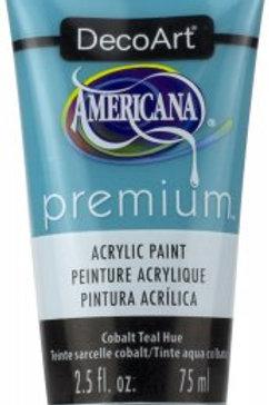 DecoArt Premium Acrylic Paint - Cobalt Teal Hue