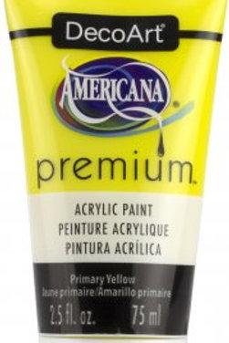 DecoArt Premium Acrylic Paint - Primary Yellow