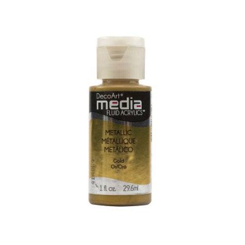 DecoArt Media Fluid Acrylics - Metallic Gold