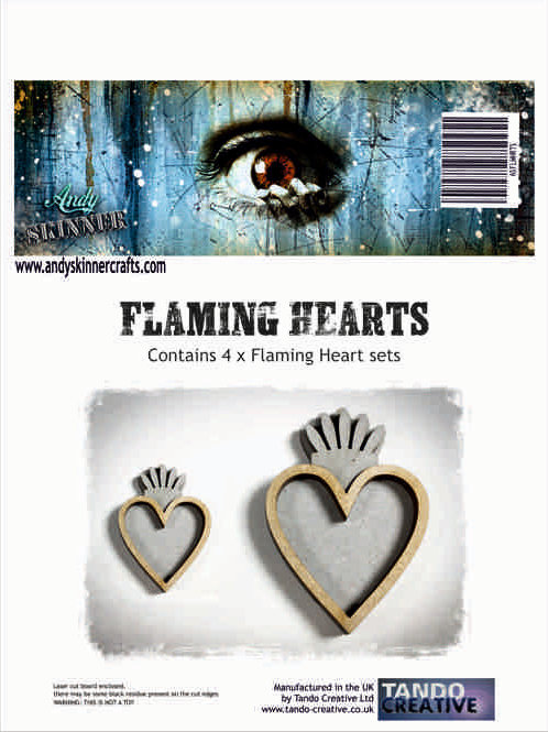 Tando Creative Flaming Hearts by Andy Skinner