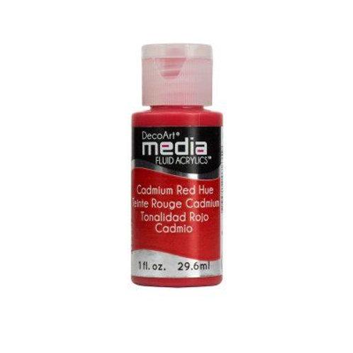 DecoArt Media Fluid Acrylics - Cadmium Red Hue