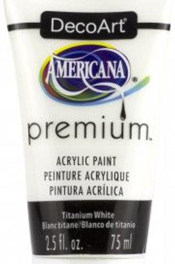 DecoArt Premium Acrylic Paint - Titanium White