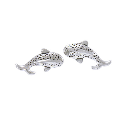 Small Whale Shark Sterling Silver Post Earring