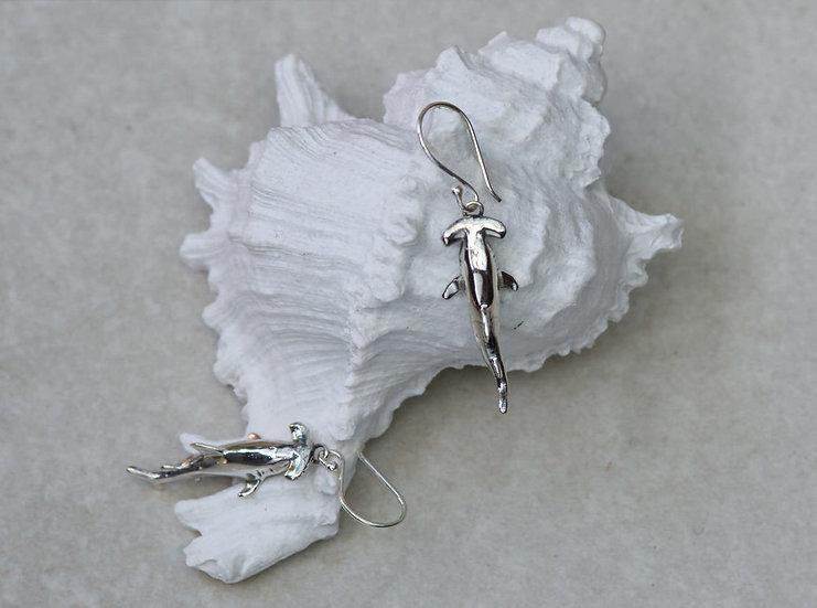 Silver Hammerhead Earrings