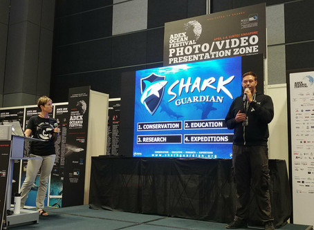 Shark Guardian Exhibit and Speak at Asian Dive Shows