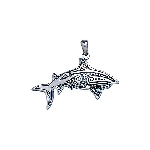 Aboriginal Fish Sterling Silver Pendant