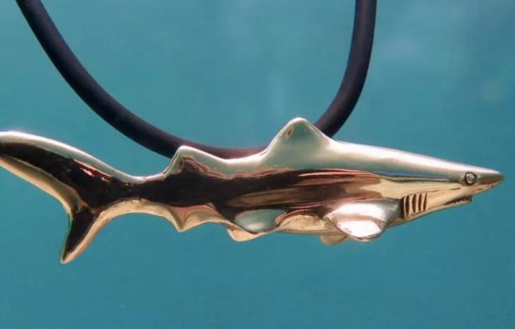 Bronze Shark Pendant