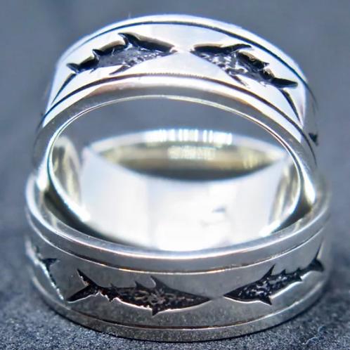 Silver Shark Ring