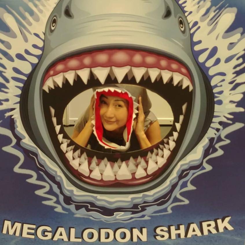 Shark Guardian Ambassador inside the Megalodon