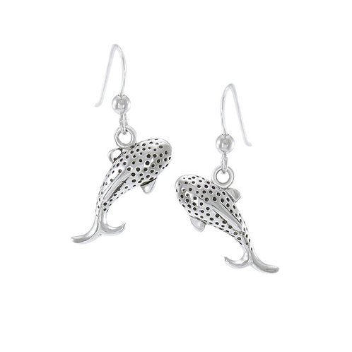 Small Whale Shark Sterling Silver Hook Earring